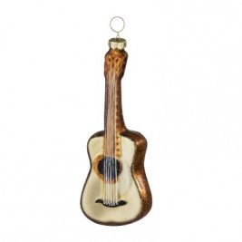 Bungalow Xmas ornament guitar guld