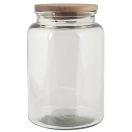 Ib Laursen Glaskrukke med trælåg 3 L