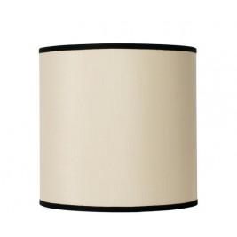 Oi Soi Oi Lampeskærm offwhite rå silke med sort kant 30 x 30