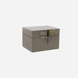 Oi Soi Oi Lakæske brun grå med guldsmed stor