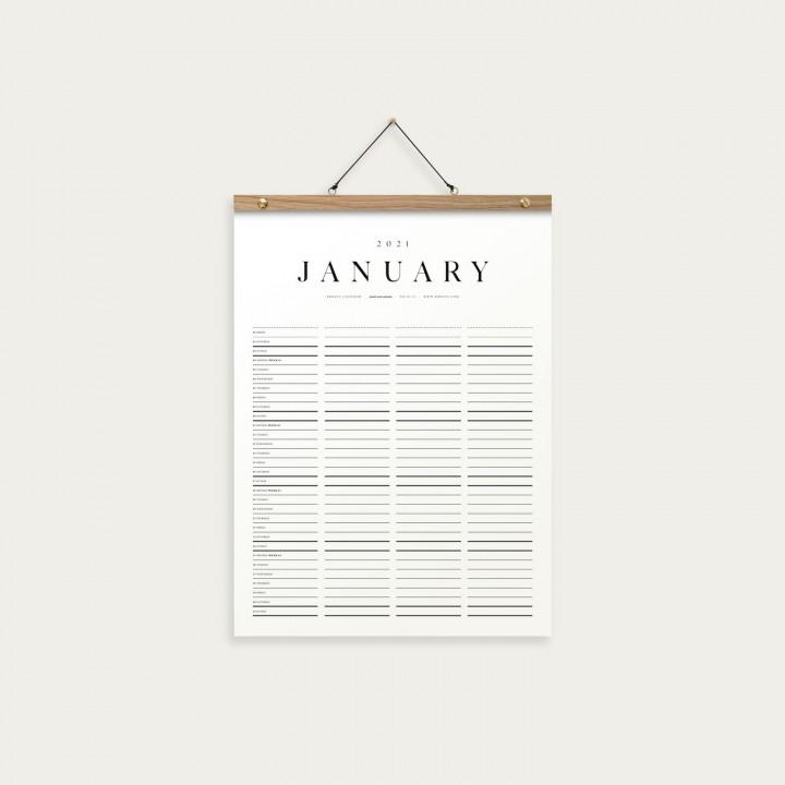 KbhavnCalendar The Family Mini Calendar 2021 OAK
