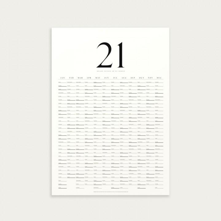 KbhavnCalendar Refill til The Wall Calendar 2021